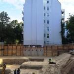 Neubau eines Wohngebäudes mit Tiefgarage in Hamburg
